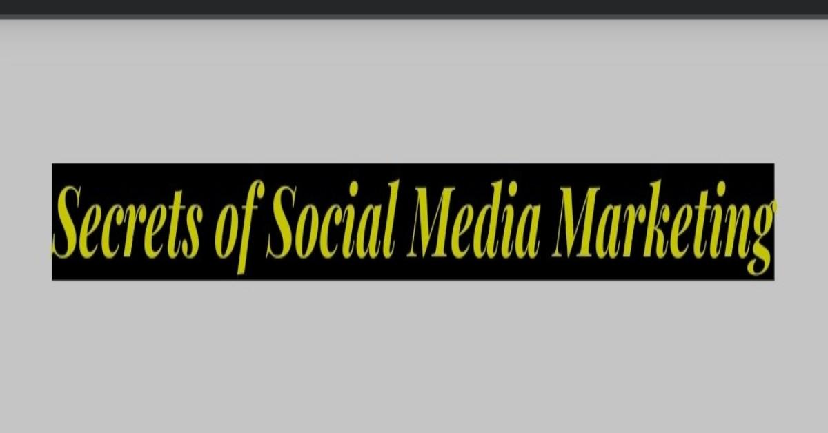 The inscription of secrets of social media marketing