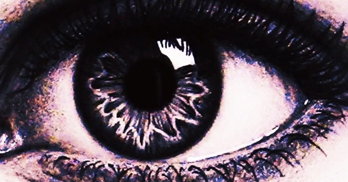 A crystal clear eye