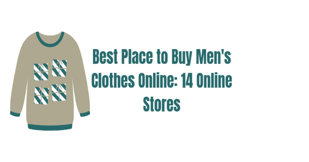 A shirt with the best place to buy men's clothes online on it.