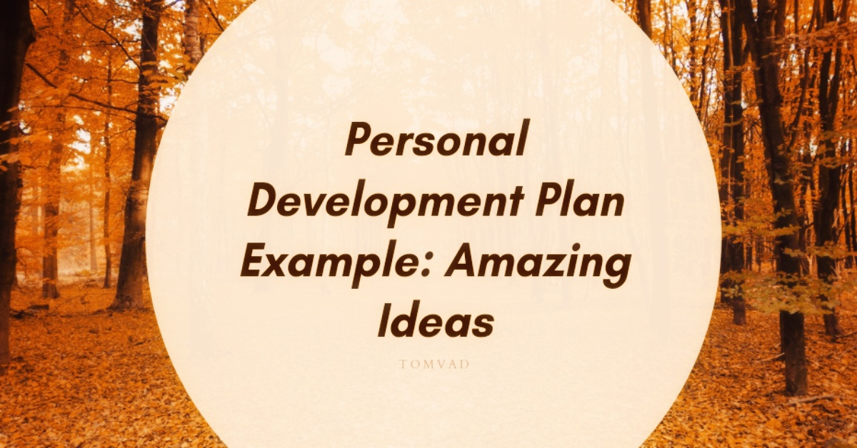 personal development plan example tomvad