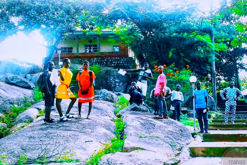 Kids Visiting a Tourist center