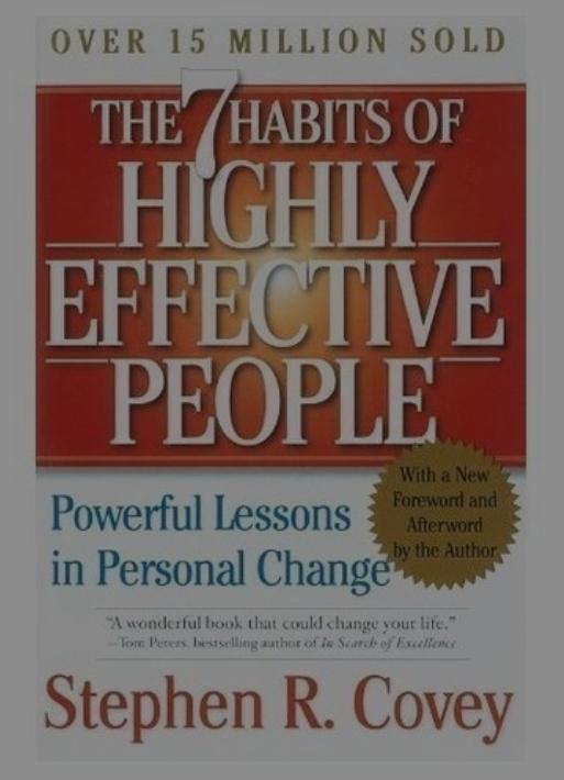 Stephen. R. Covey personal development books