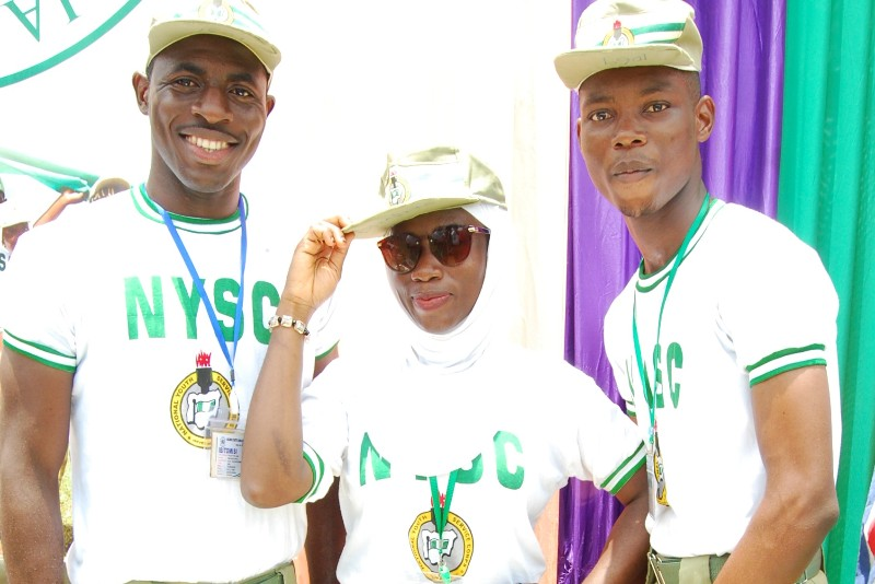 Three Nysc friends experimenting how to enjoy nysc camp