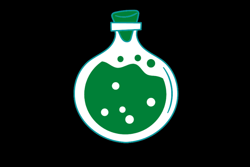 A bottle of chemical