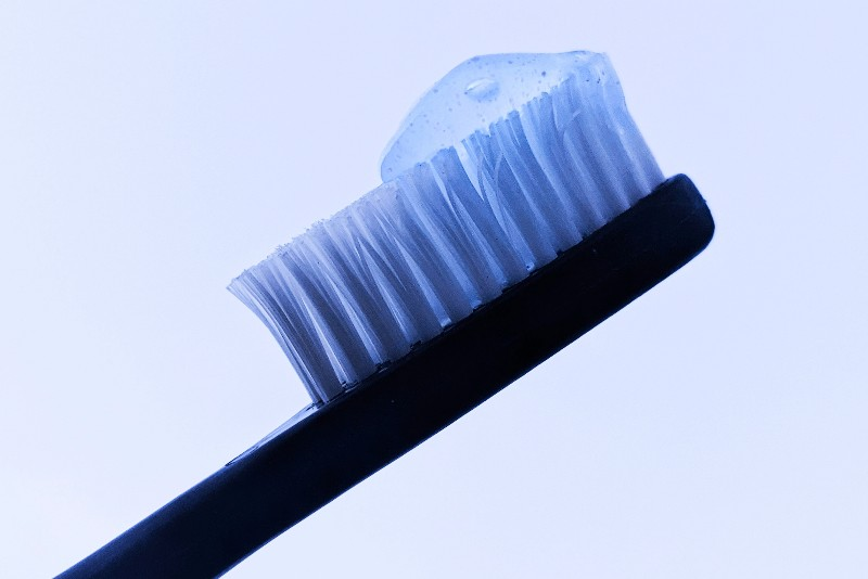 A toothbrush with paste