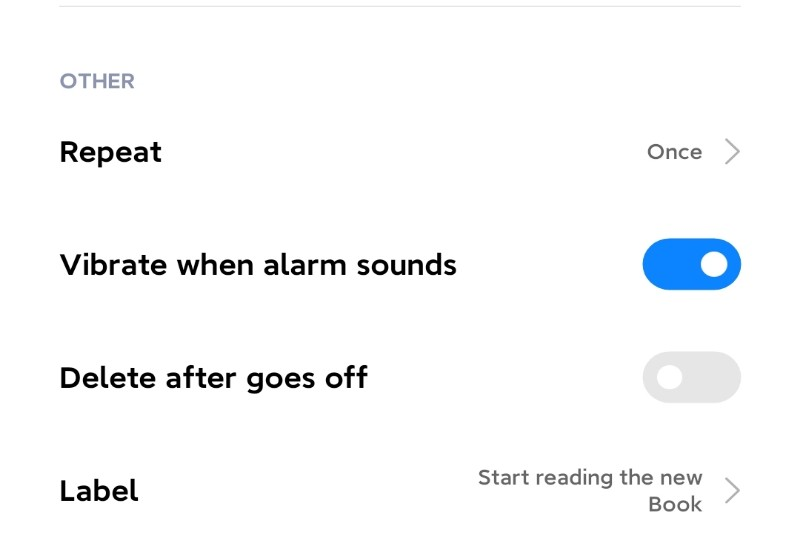 A Phone's reminder Page