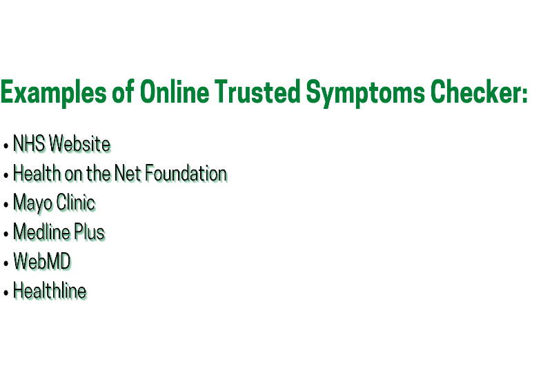 List of trusted websites that are safe ways to research your symptoms online