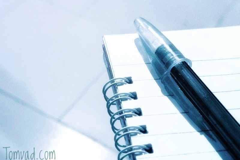 a pen and a journal