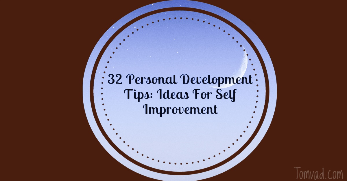 a text with personal development tips