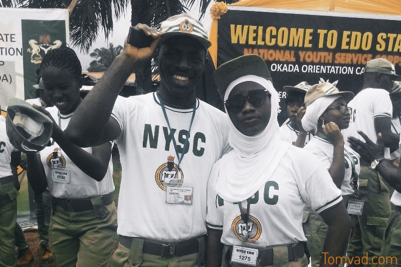 Two corpers on their  first week in the nysc camp
